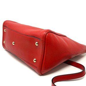 Gucci Bags - 100% Auth Gucci Soho Red Calfskin Crossbody Bag